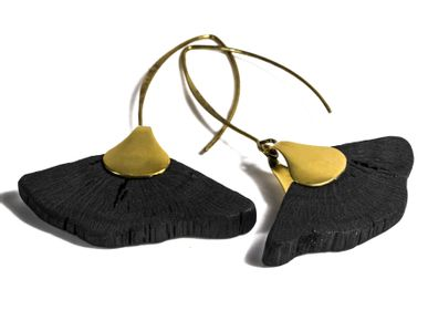 Jewelry - Earrings HIME-SASHI-DAI-GINKO - CHARCOAL ESKIMEÏT