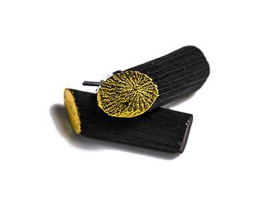 Bijoux - Boucles d'oreilles KIN-MIMI-WA - CHARCOAL ESKIMEÏT