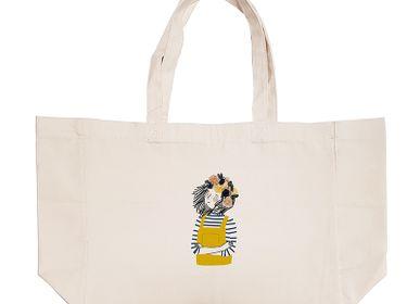 Sacs et cabas - Sac shopping en coton naturel - LABEL'TOUR