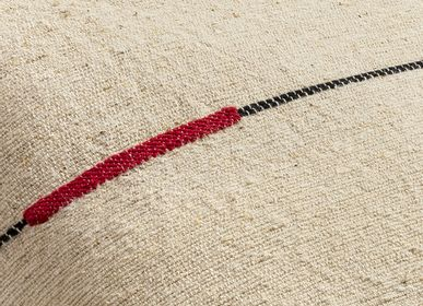 Fabric cushions - CUSHION SEMA NETTLE RED LIGNE - MILLE ET CLAIRE