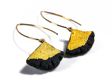 Jewelry - Earrings KIN-FULI/ FUJI & Earrings KIN-FULI-EDA - CHARCOAL ESKIMEÏT