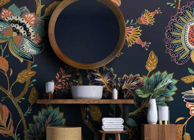 Wallpaper - Batik Panoramic Floral Illustration Wallpaper - LA MAISON MURAEM