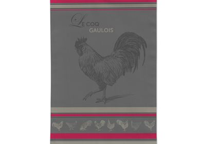 Tea towel - Gaulish Rooster/Jacquard Tea Towel - AUTREFOIS DÉCORATION