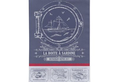 Tea towel - Sardine / Jacquard Tea Towel - AUTREFOIS DÉCORATION