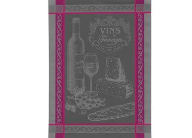 Torchons textile - Vins et Fromage / Torchon Jacquard - AUTREFOIS DÉCORATION