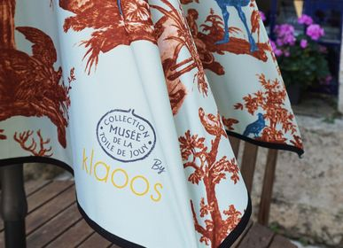 Design objects -  Patio Umbrella - Toile de Jouy by Klaoos vert d'eau - Klaoos - KLAOOS