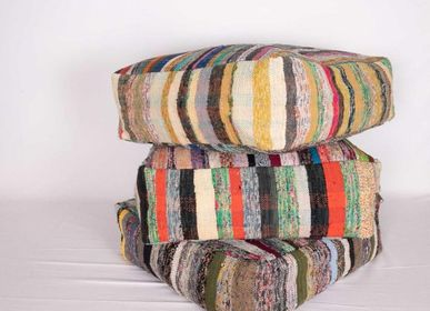 Comforters and pillows - DECORATIVE ANATOLIAN KILIM CUSHION POOF SEAT FLOOR CUSHION  - LALAY