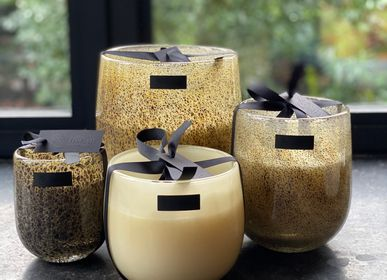 Decorative objects - Silverbrown mouthblown glass candle - OSCAR CANDLES