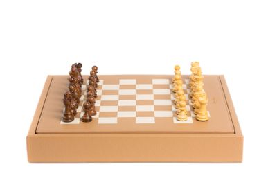 Gifts - Chess box I Buffalo and Alligator effect leather - HECTOR SAXE PARIS DEPUIS 1978