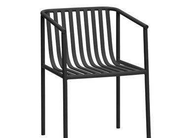 Chaises de jardin - Chaise, métal, noir - HÜBSCH