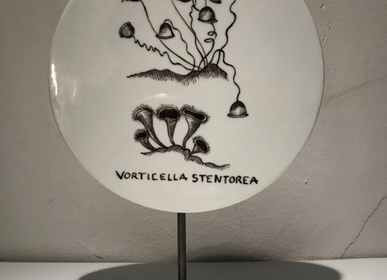 Unique pieces - FOSSIL Curiosity Disc - Vorticella stentorea - VERONIQUE JOLY-CORBIN