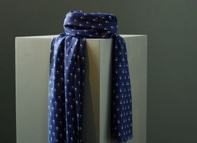 Scarves - LAURIS - MEN'S SCARF - ORGANIC COTTON - AV08 PARIS