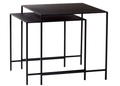 Coffee tables - Table, metal, black, s/2 - HÜBSCH