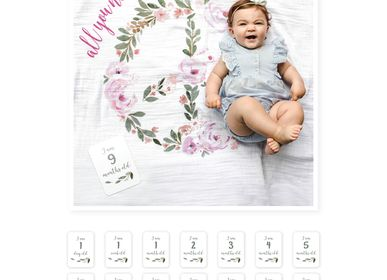 "Kids accessories - Box ""My first year"" Lange & photo cards - LULUJO"