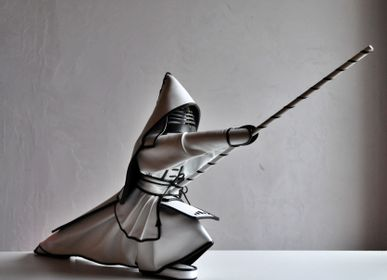 Sculptures, statuettes and miniatures - Kendo Leather Sculpture - ANNIE DELEMARLE