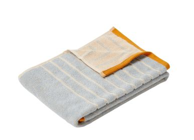 Bath towels - Towel, cotton, sand/blue/orange - HÜBSCH