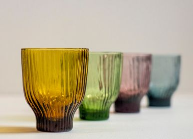 Glass - Amnis Glass (green, smoked grey, bronze, rosy) - KINTA