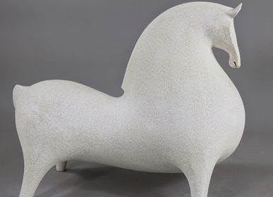 Sculptures, statuettes and miniatures - White Horse Sculpture - ATHENA JAHANTIGH