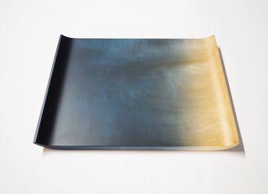 Everyday plates - Indigo dyed Tochi Rectangle Plate - AOLA