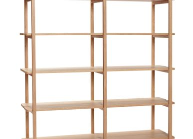 Shelves - Shelf w/5 shelves, oak, FSC - HÜBSCH