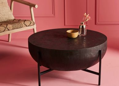 Coffee tables - Drum coffee table, black - SIGNATURE MOBILER ET DÉCORATION