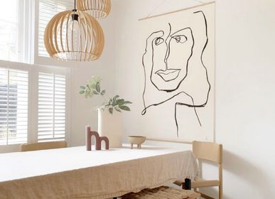 Pens and pencils - Sustainable Wall Hanging - METTEHANDBERG ART PRINTS