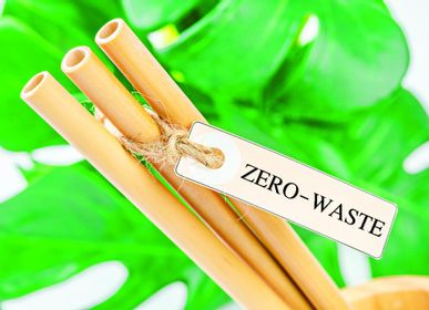 Kitchen utensils - Biodegradable and eco-friendly natural bamboo straws L20 cm, neutral. - APERO CONCEPT