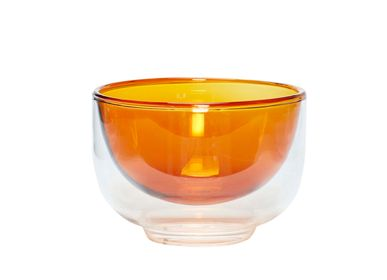 Bowls - Bowl, glass, clear/amber - HÜBSCH