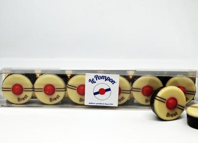 Chocolat - Réglette 6 pompons - CHOCOLATERIE LE POMPON