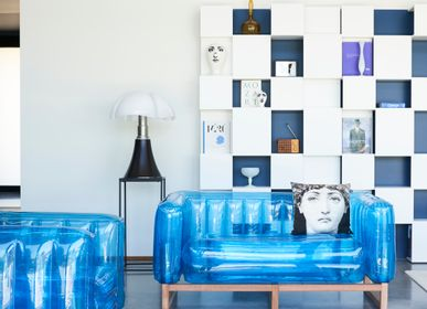 Sofas - YOMI EKO WOOD Sofa Blue - MOJOW