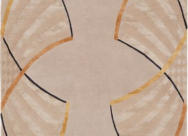 Rugs - FANS bespoke hand knotted wool and silk rug - DEIRDRE DYSON