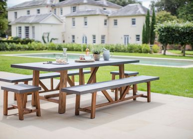 Dining Tables - Chilson Table and Bench Set Large - GARDEN TRADING
