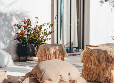 Deck chairs - Outdoor XL raffia beanbag  - MX HOME