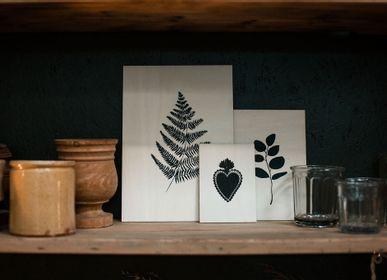 Stationery - carte en bois - POUSSIÈRE DES RUES