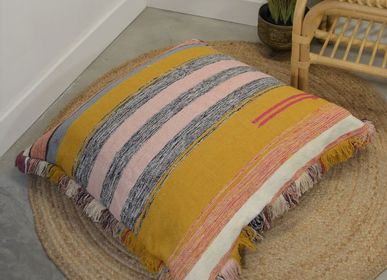 Fabric cushions - Floor cushion XXL trimmed - MAISON VELVETY