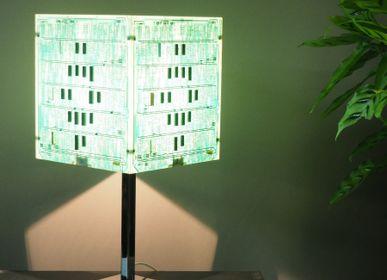 Lampes à poser - Lampe Aedificium Verte - AVLUMEN