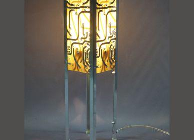 Lampes à poser - Lampe Quadripes Jaune - AVLUMEN