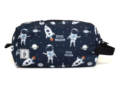 Stationery - Space with Blue Strap Pencil Case Pouch Clutch - THE LUNCHBAGS