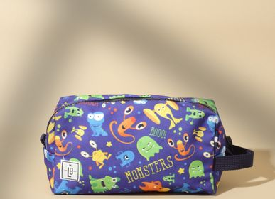 Stationery - Monsters with Blue Strap Pencil Case Pouch Clutch  - THE LUNCHBAGS