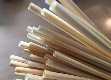 Couverts & ustensiles de cuisine - Pailles en paille de blé éco-friendly. - APERO CONCEPT