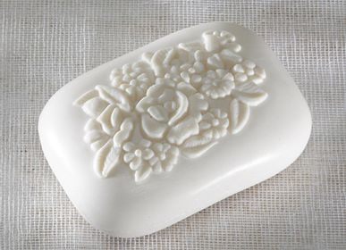 Soaps - Rectangle fleuri 115g - arôme de figues - MARIE PAPOTE
