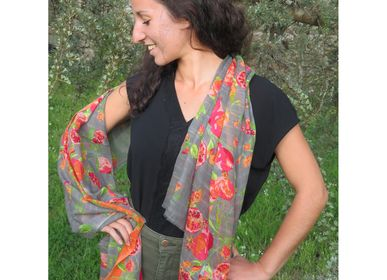 Foulards et écharpes - Etoles d'été en coton - SUPPLEMENT D'AM / ÉTOLES ET SACS