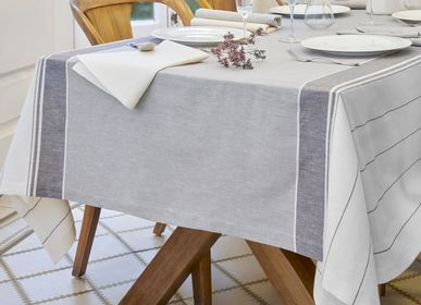 Table linen - Pierre tablecloth cotton-linen - BASSOLS