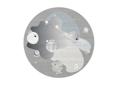 Objets de décoration - Planet Party Round Rug  - COVET HOUSE