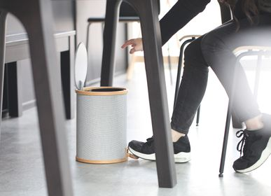 Office furniture and storage - POMP Pedal Trash Bin - Fabric veneer - GUDEE