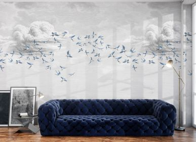Autres décorations murales - Fresque Swallow Cloud Bleu - PAPERMINT
