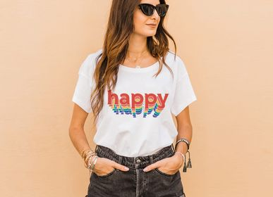 Prêt-à-porter - Tshirt HAPPY - WAY CUSTOM