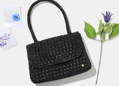 Bags and totes - FELICIE BLACK raffia handbag - SANABAY PARIS