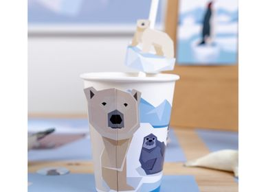 Birthdays - 6 Cups Animals Polar - Compostable - ANNIKIDS