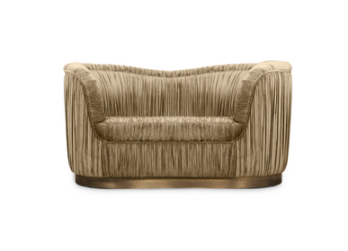 Chairs for hospitalities & contracts - DAKOTA Single Sofa - CAFFE LATTE